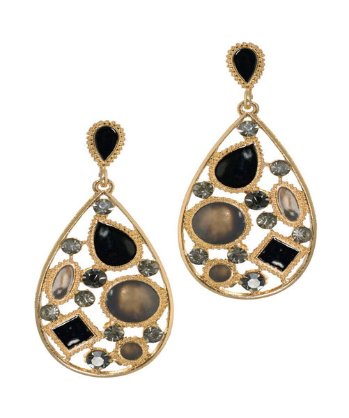 BAUBLE BURST Black Magic Earrings