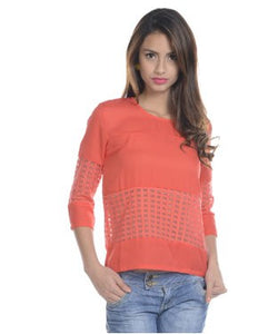 Viro Red 3/4 Sleeve Top