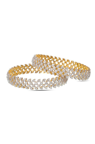 Bauble Burst Diamond Leaves Bangle Set