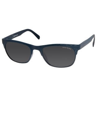 David Blake Black Rectangular Polarised, UV Protected Sunglass