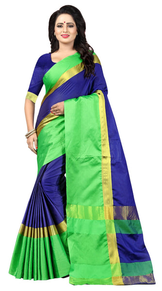 YOYO Fashion Latest Fancy Kangi Ora  Blue Saree $SARI2583