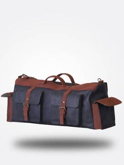 Strutt Unisex Grey & Brown 4 pocket Leatherette Cabin Baggage $ SMD514