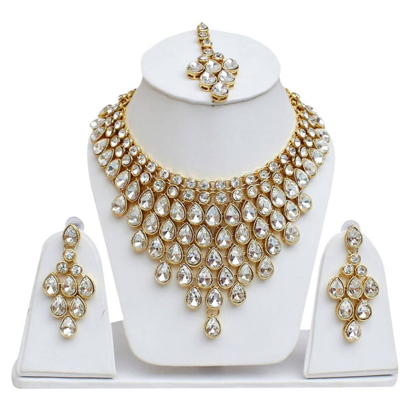 Gold Plated Alloy Metal Hand Crafted Work Women's Angoor Necklace Set $ AF788623