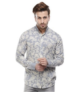 See Designs Grey And Cream F/S Shirt