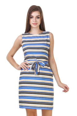 Fashians Multi striped sleeveless dress $ FS-1700001