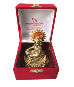 Gold Plated Laddu Gopal Murti with Velvet Box Packing Exclusive Gift for Diwali Gift and Wedding Gifts $ IGSPBR101059