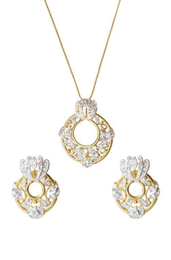 Bauble Burst Dazzling Disc Pendant Set