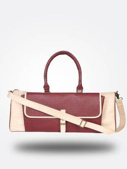 Strutt Unisex Peach and Maroon Duffle bag $ SMD110