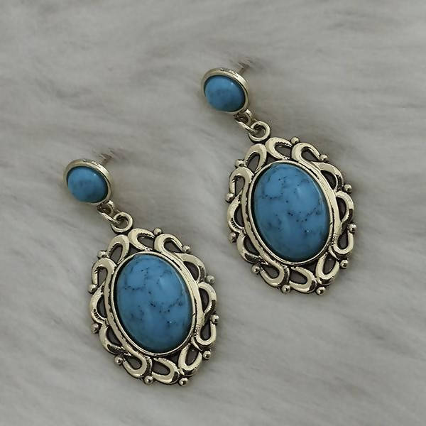 Tanishka Fashion Gold Plated Light Blue Turquoise Stone Dangler Earrings $ 1310862C