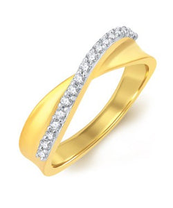 Sukkhi Fabulous Gold Plated CZ Ring For Women