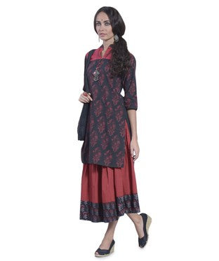 DESI THREADS Black Kurti