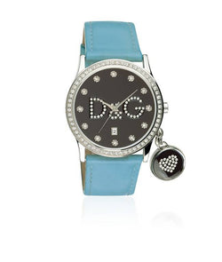 DOLCE & GABBANA Brown/Silver/Sky Blue Stainless Steel/Leather WOMEN CASUALWATCH $ 100000672152