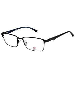 David Blake Matte Black Rectangular Full Rim EyeFrame