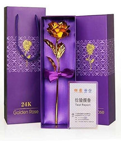 Gold Rose Rose 25 cm Gift Box and Carry Bag (25 cm, Gold) $ GNI-116