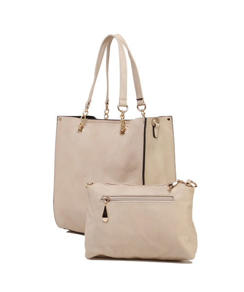 Fiona Trends Beige PU Shoulder Bag,6001_BEIGE