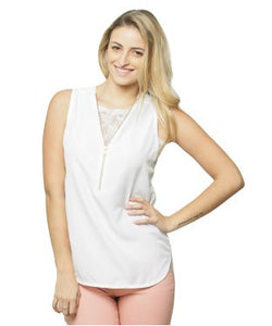 Miss Chase White S/L Top