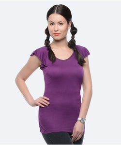 United Colors Of Benetton Purple S/S Top