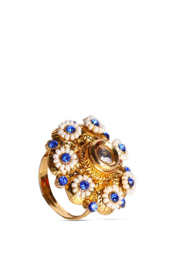 Bauble Burst Blue Blossom Ring