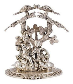 Silver Plated Radha Krishna God Idol Murti with Velvet Box Packing (28 cm, Silver) Exclusive Gift for Diwali Gift Items, Wedding Gift Items and Corporate Gift Items $ GSI-148