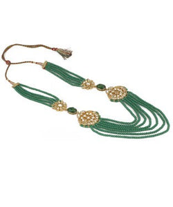 aradhya NA Beads, Crystal Yellow Gold Plated Alloy, Metal Necklace
