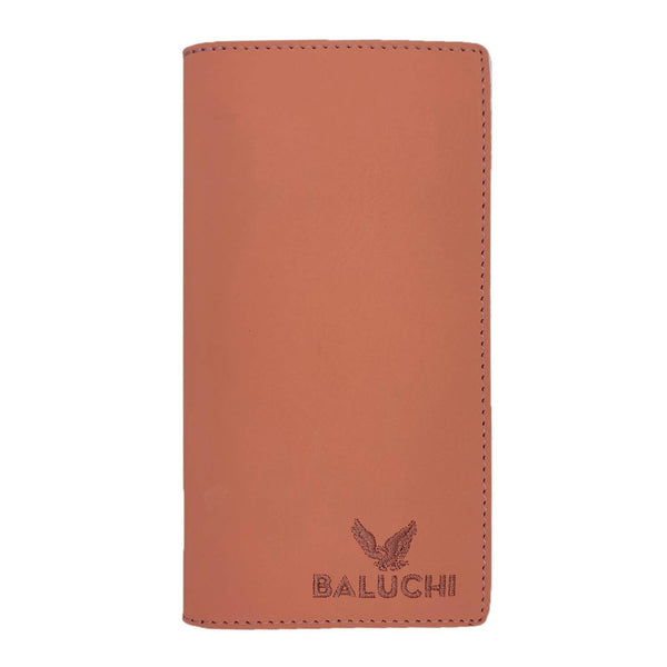 Baluchi Peach Matt Finished Long Wallet for Men & Women $ BLC_LNGWLT_PCH_03