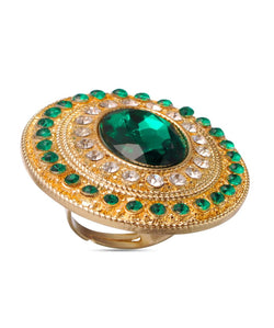 BAUBLE BURST Bold In Green Ring