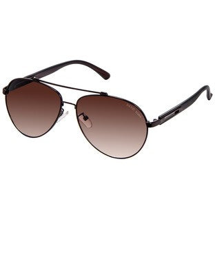 David Blake Brown UV Protected Aviator Sunglass