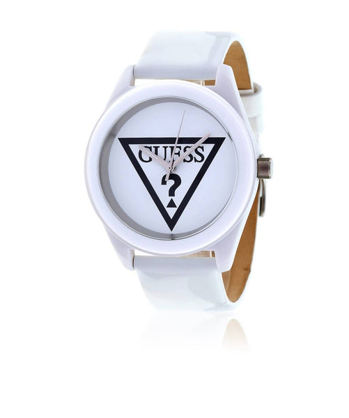 GUESS White/White/White Stainless Steel/Leather WOMEN CASUALWATCH $ 100000722235
