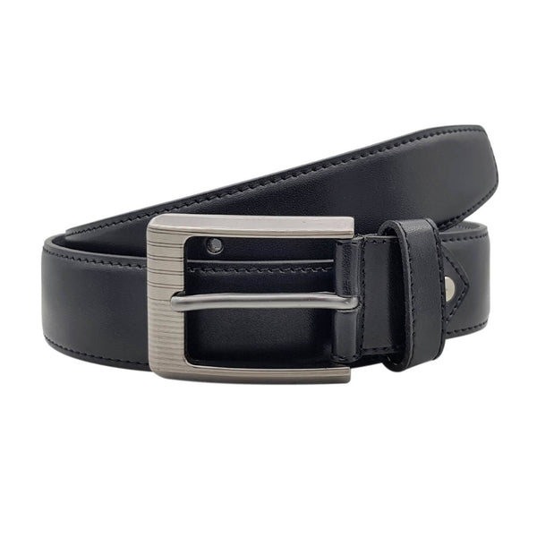 Baluchi's Black Textured Semi Formal Men's Belt $ BLC_PMB_9