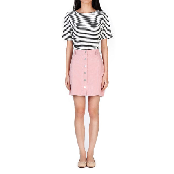 London Rag Women's Pink Aline Skirt-CL7093