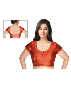Manvi Fashion Red Color Sweet Heart Neck Readymade Blouse $ MF1683