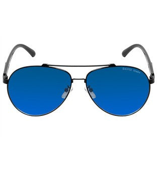 David Blake Blue UV Protected Aviator Sunglass