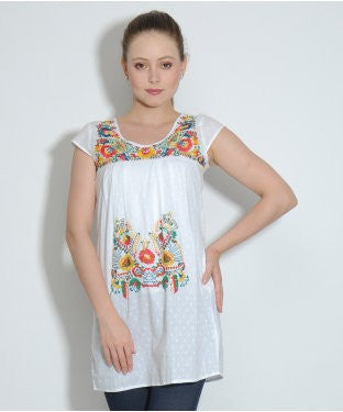 Elle White S/S Top
