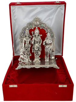 International Gift Aluminium Ram Darbar God Idol (34 cm x 24 cm x 16 cm, Silver) $ GSI-128