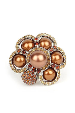 Brown Bead Ring