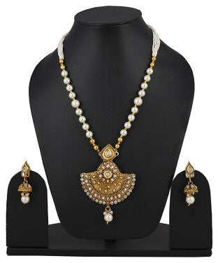 aradhya Brass Jewel Set (Multicolor)