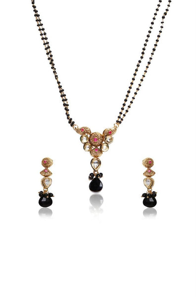 Bauble Burst Black Boondh Mangalsutra Set