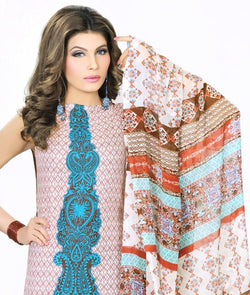 Unstitched Suit With Dupatta AW_100000274438