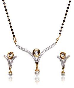 Bauble Burst Mangalsutra With Earrings