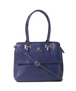Fiona Trends Blue PU Shoulder Bag,103_BLUE