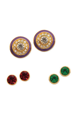 Colour Drops Studs Set - JNFHEAR9651