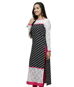 Fuoko  Multi Coloured Crepe Women Partywear Kurtis - FWAPKU033MLC