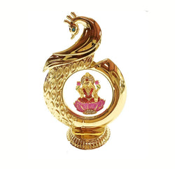 Gold Plated Laxmi Ji God Idol Car Dashboard (12 cm, Gold) Exclusive Gift Items for Diwali Gift, Wedding Gift and Corporate Gift $ IGSPBR1084