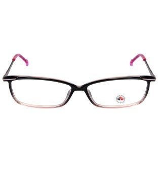 David Blake Black Pink Rectangular Full Rim EyeFrame