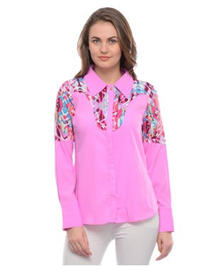 Leafe Pink And Multi F/S Shirt