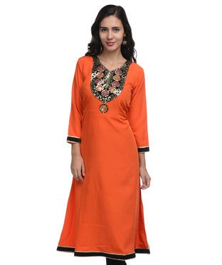 LAVENNDER Orange Kurta