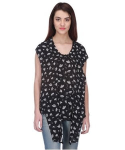 Quirk Black And White S/L Top