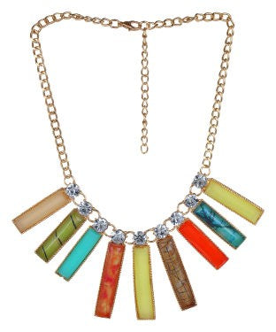 Aradhya Crystal Metal Necklace