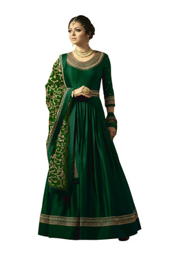 YOYO Fashion Green Faux Georgette Anarkali Salwar Suit & YO-F1315-Green