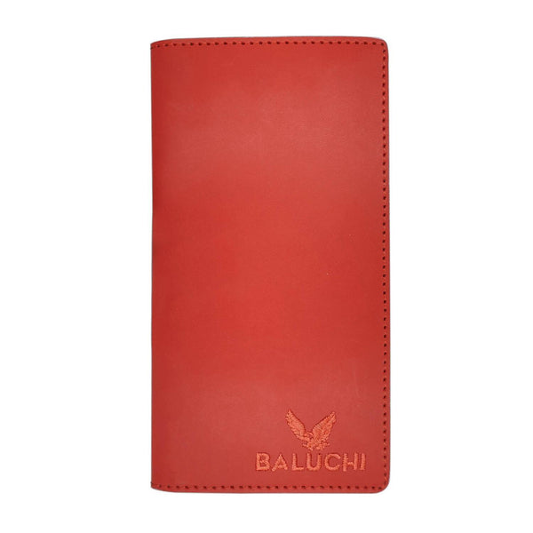 Baluchi Red Rough Long Wallet for Men & Women $ BLC_LNGWLT_RED_02
